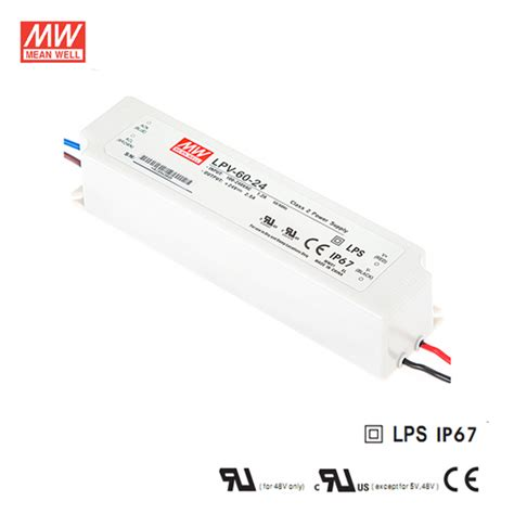 Power Supply Well Led Driver Lpv 60 24 24volt led driver led lighting power supplies 60w 100w