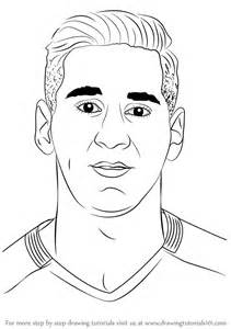 step by step how to draw lionel messi
