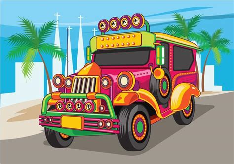 philippines jeepney vector philippine jeep vector illustration or jeepney download