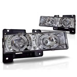 1996 chevy silverado clear halo projector headlights