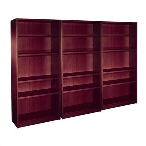 4 shelf wall bookcase in american mahogany sl71bc aml pkg