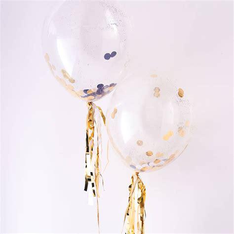 Balon Metalik I You Cinta gold confetti balloon kit by letteroom