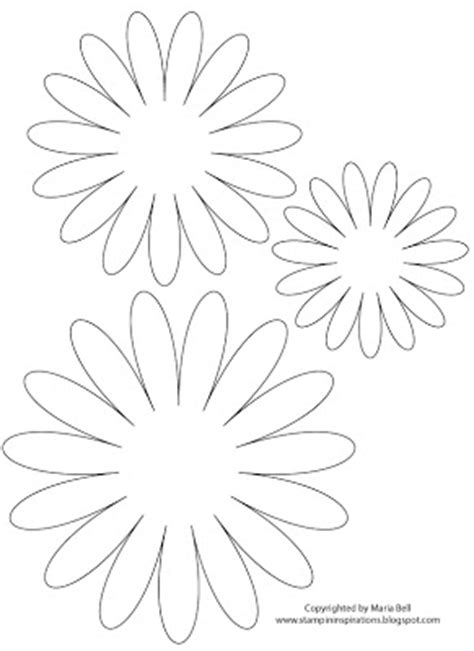 daisy paper flower pattern card inspired by maria layered flower template