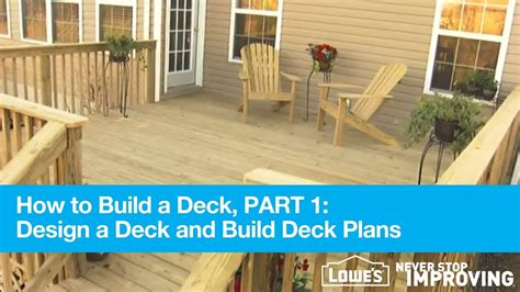building a patio how to build a deck part 1 design deck plans