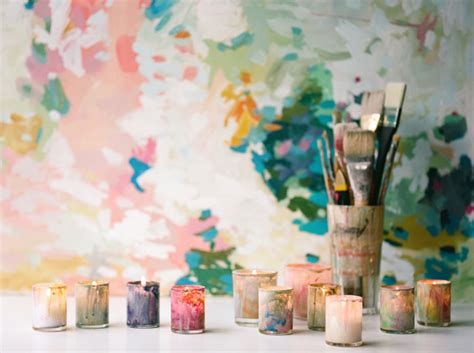 diy projects with paint diy painted votives once wed