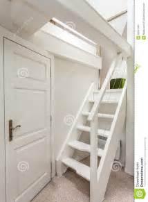 House Design Plans Inside Vintage Mansion Attic Stairs Stock Image Image 32341981