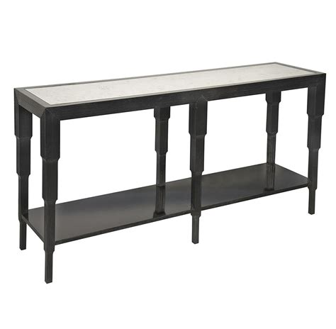 black friday console table quincy regency antiqued mirror black console table