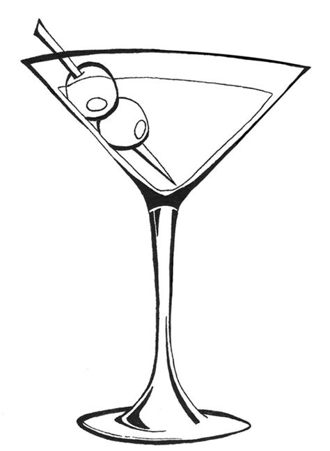 cocktail sketch glass drawing clipart best