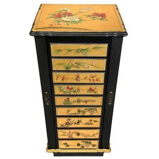 oriental jewelry armoire oriental furniture 9 drawer gold lacquer jewelry cabinet