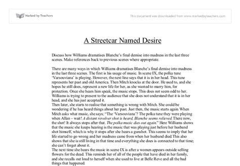 Streetcar Named Desire Essay Questions by Streetcar Named Desire Essay
