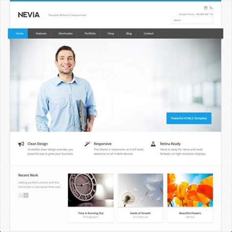 business web design homepage 40 high quality business website templates