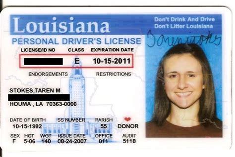 Louisiana Id Template rev id