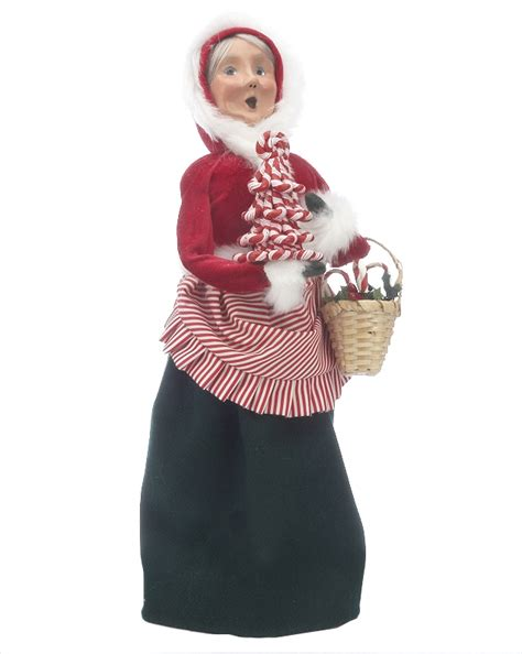 byers choice candy cane mrs claus personalized gift