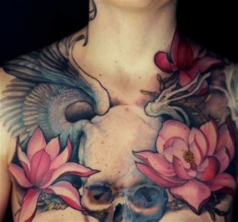 womens chest tattoo chest tattoos insider