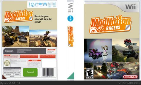 Cd Modnation Racers modnation racers wii box cover by habib3