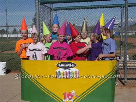 halloween themed team names coolest crayon girls group costume