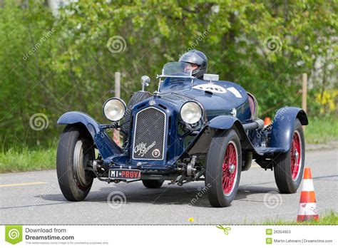 vintage alfa romeo race cars vintage pre war race car alfa romeo editorial stock photo