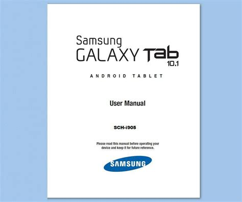 samsung galaxy tablet  sch  user manual