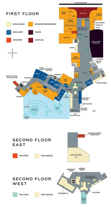 monte carlo casino property map floor plans las vegas