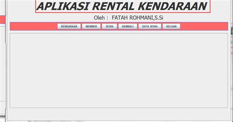 Rental Kendaraan Di Melaka | aplikasi rental kendaraan dengan java at scaffold blog