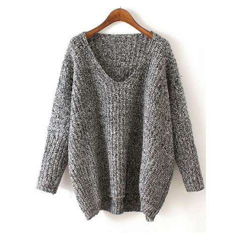 V Neck Chunky Sweater Light Gray best 10 v neck sweaters ideas on sweater