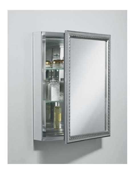 20 x 26 aluminum medicine cabinet with mirrored door by kohler faucet k cb clw2026ss in silver aluminum by kohler