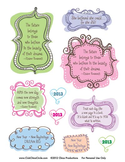 free printable journal stickers make your own idea journal with free inspirational