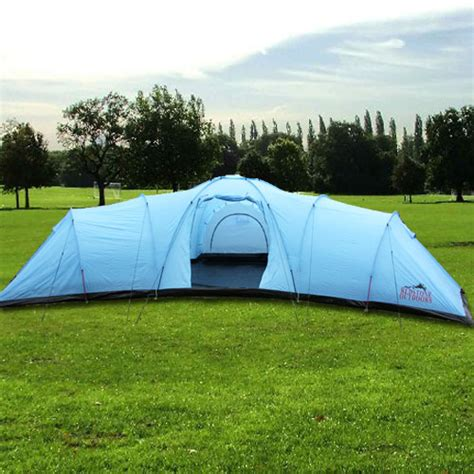 three bedroom tent everest large 12 man person berth tent 3 bedrooms