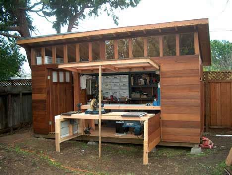 small backyard workshops integrating your garden shed design into your garden shed
