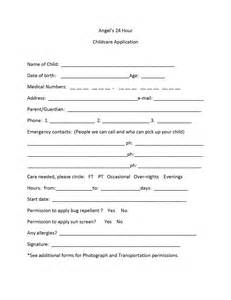 child care employment application template childcare application form print childcare application