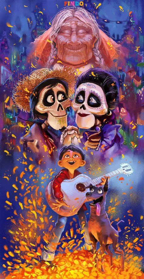 coco art through the generations coco imelda and hector miguel