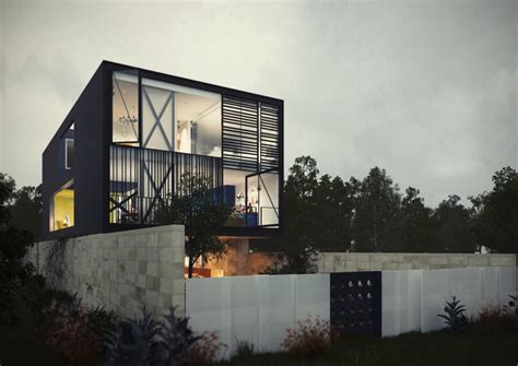 glass box architecture architectural concept of a glass box home