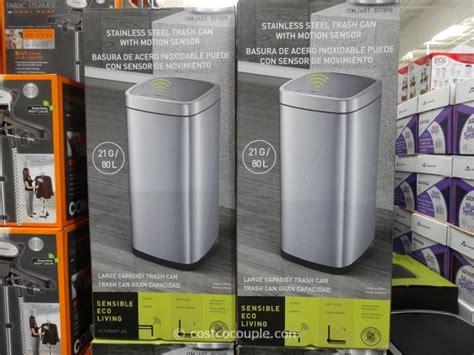 Costco Bathroom Trash Can Sensible Eco Living Motion Sensor Trash Can