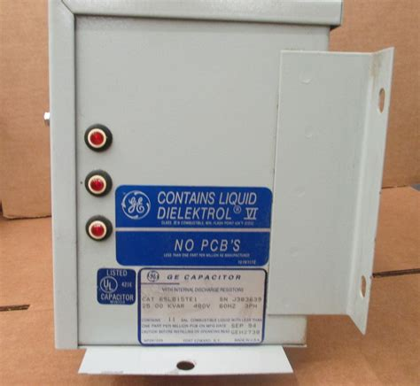 how to discharge three phase capacitor ge capacitor power correction 25 kvar 480vac 3 phase 65l815te1 ebay