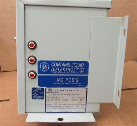 capacitor abb 25 kvar ge capacitor power correction 25 kvar 480vac 3 phase 65l815te1 ebay