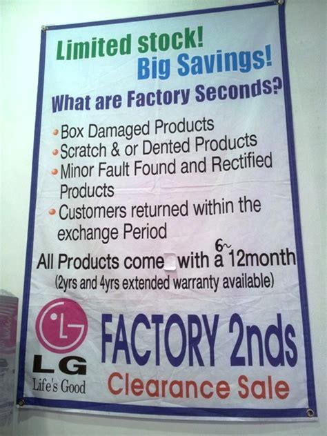 factory seconds sale lg factory seconds clearance sale centre melbourne