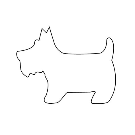 printable dog templates large pet template printable clipart best