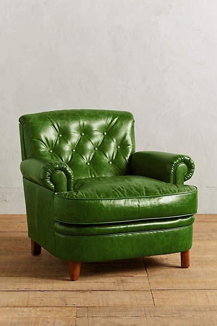 green leather armchair leather kimmeridge armchair in green