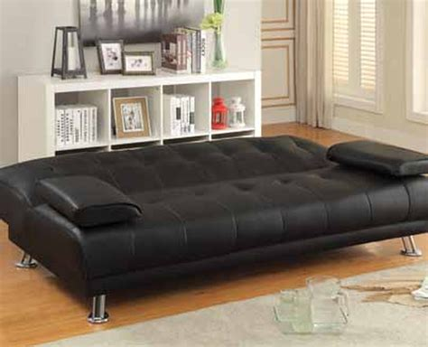 black leather sofa sleeper coaster 300205 black leather sofa bed a sofa