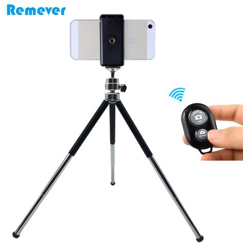 Tripod For Android metal mini tripod with phone holder bluetooth remote for iphone xiaomi samsung android phones