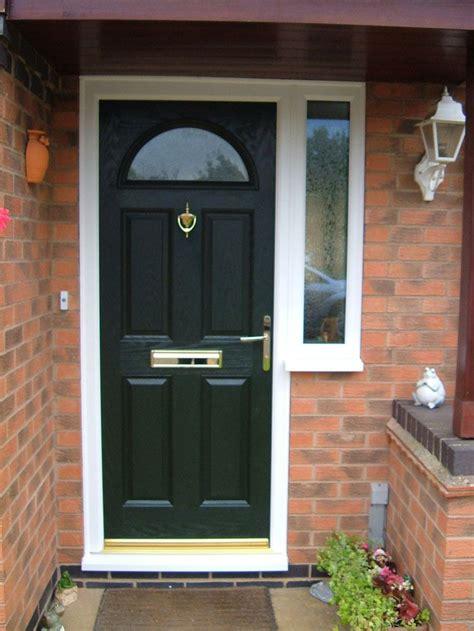 pale green composite front door upvc glazed doors in peterborough
