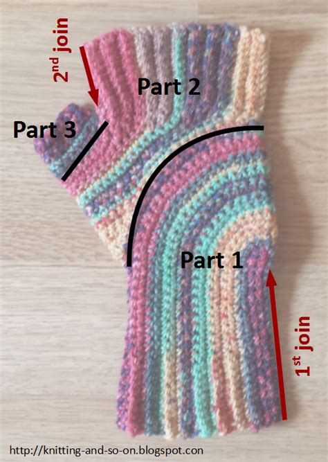 knitting how to turn knitting and so on crochet u turn mitts