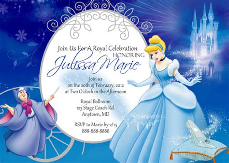 cinderella invitation to the template cinderella birthday invitations ideas bagvania free