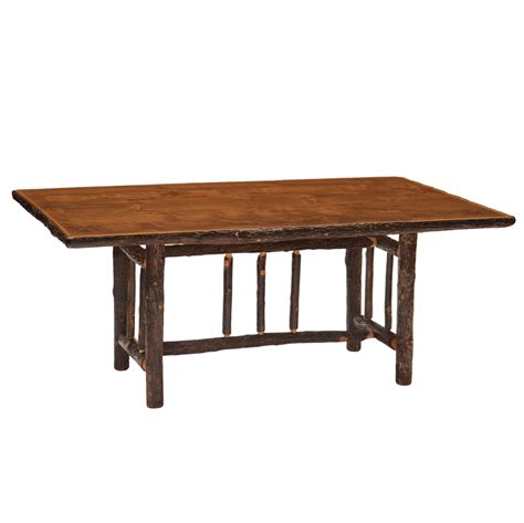 hickory dining room table cottage hickory dining table rustic furniture mall by