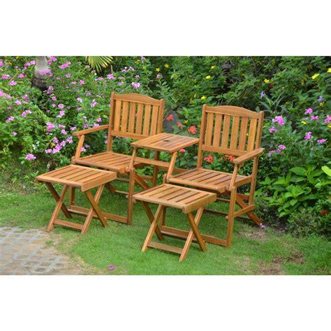 set per giardino set da giardino in legno di acacia panchina 2 posti e