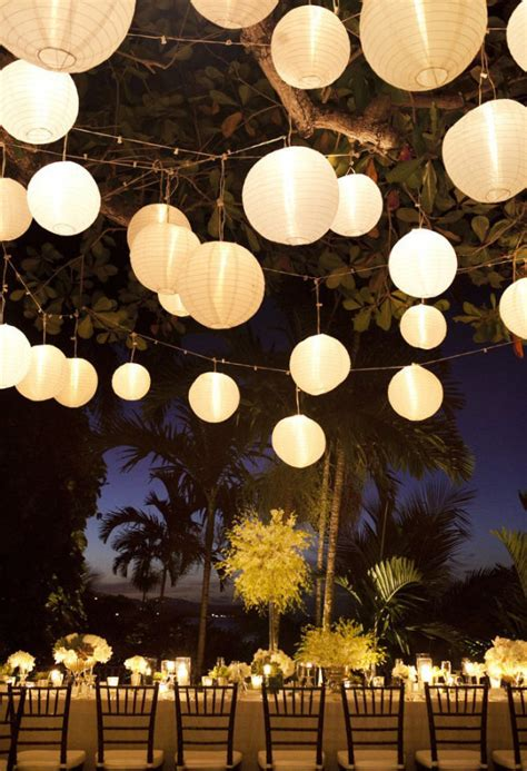 How To Make Paper Hanging Lanterns - 20 beautiful wedding lanterns with hanging on lights