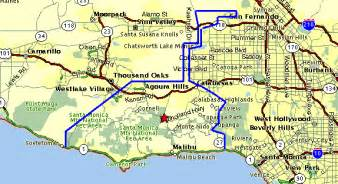 malibu california on map maps of malibu