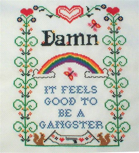 mp3 download damn it feels good to be a gangsta damn it feels good to be a ganster cross stitch by