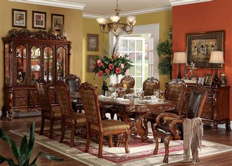 formal cherry dining room sets von furniture dresden formal dining room set in cherry