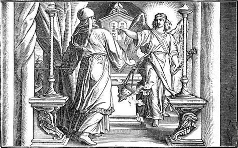 coloring page zechariah at the temple the appears unto zacharias
